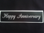 Happy Anniversary words stencils for etching on glass wedding favor gift present glassware